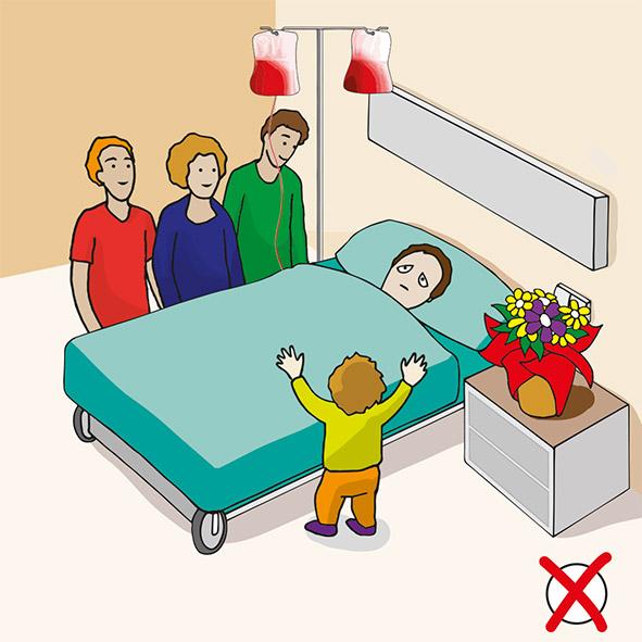 ILUSTRACIÓN VECTORIAL, CENTRO HOSPITALARIO, STOP ENFERMEDADES HOSPITALARIAS