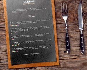CARTA TIK TAK HAMBUERGUESAS restaurante menu