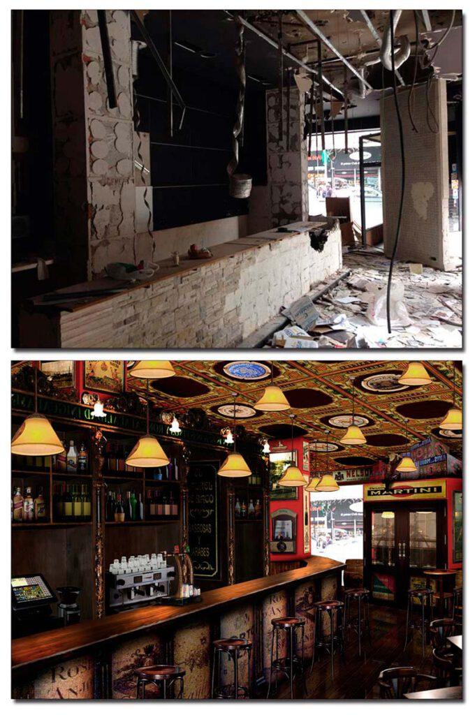 Presentación virtual antes y después de obra y decoración.